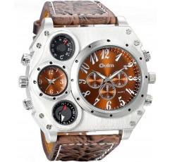 [해외] 남자 밀리터리 손목 시계,  아날로그 디스플레이 나침반 온도계 장식 다이얼 스포츠 시계