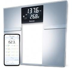 Beurer Bluetooth Body Fat Scale 스마트 BMI, 사용자 인식 디지털 욕실 무선 무게 스케일, Syncs to App, BF70