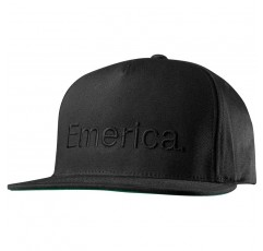 Emerica Men 's Pure Snapback Cap, 블랙, 원 사이즈