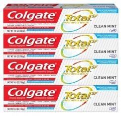 콜 게이트 토탈 클린 민트 치약 - 4.8 oz, 4 팩
