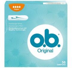 o.b. 곡선 홈이 있는 오리지널 슈퍼 탐폰 - 강한 날을 위한 신뢰할 수 있는 보호에 이상적 - 56 팩