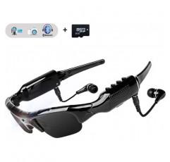 WOTUMEO 다기능 블루투스 선글라스 프리핸즈 헬멧 운전 1080P 캠©라 안경 미니 DV 스포츠 사이클링 고글 8GB©moire지도