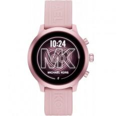 Michael Kors, 여성용 MKGO 터치 스크린 알루미늄 및 실리콘 스마트 워치, 블러쉬 / 핑크 -MKT5070
