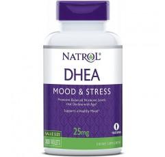 Natrol DHEA 정제, 균형 잡힌 호르몬 수준 촉진, 건강한 기분 유지, 25mg, 300 카운트