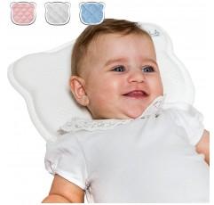 오리지널 코알라 베이비케어® - 정형외과의 아기 베개와 평평한 머리에 두 개의 펜치가 있는 아기 베개 (두개골 변형) 아기 머리 쿠션 - 등록 된 디자인.