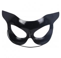Holibanna 할로윈 고양이 마스크 반 얼굴 마스크 캣우먼 마스크 할로윈 파티 의상 블랙