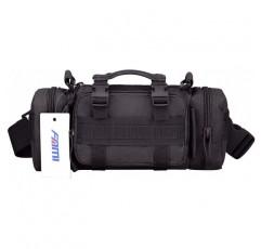 FAMI 패니 3P 군사 전술 파우치 배낭 몰리 첨부 파일 파우치 작은 EDC 슬링 팩 손 캐리 가방-블랙