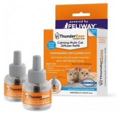 ThunderEase Multicat Caling 페로몬 디퓨저 리필-고양이 갈등, 긴장 및 싸움 감소 (60 일 분량)