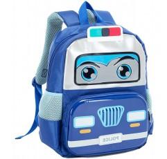 아이 유아 경찰 자동차 배낭, 작은 학교 가방 유치원 유치원 Bookbags 소년 소녀