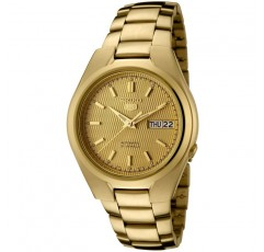세이코 남성용 SNK610 5 금 골드 다이얼 골드 톤 스테인레스 스틸 시계