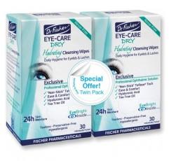 닥터 피셔 아이 케어 드라이 - 안구 건조증에 대한 보완적인 보조제. 매일 수화 눈꺼풀을 사용하여 눈의 분비물과 자극을 완화하고 보습 해줍니다 (트윈 팩, 60 닦음)