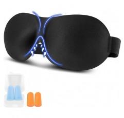 수면 마스크, 3D 프리미엄 수면 안경 아이 마스크 나이트 마스크 조정 가능한 고무 밴드 , 방수 실크