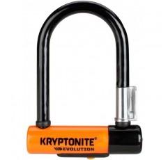 크립토나이트 에볼루션 미니-5 자전거 자물쇠, 오렌지, 8 x 14cm