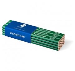 Staedtler 148 50 짐머만 연필 (타원형 팔각형, 경도, 스트로크 폭 1 - 2mm, 뾰족하지 않은, 175mm 길이, 고품질, 친환경 FSC 목재로 제작), 12 개