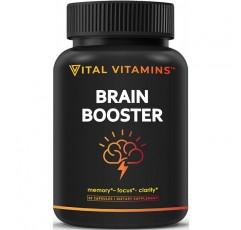 뇌 보조제 Nootropics Booster-집중력 강화, 집중력 향상, 남성 및 여성의 기억력 및 선명도 향상, 은행 나무 빌 로바, DMAE, 마인드 향상, IQ 신경 에너지, 비타민 B12, 바 코파 모니 에리