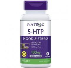 Natrol 5-HTP 시간 방출 정제, 진정 편안한 분위기 촉진, 긍정적 인 전망 유지, 세로토닌 생산, 100mg, 45 카운트