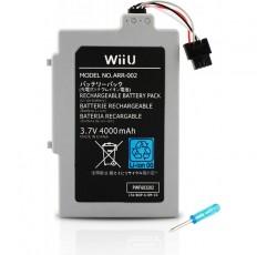 Wii U GamePad 버튼 매셔로 오래 지속되는 교체 충전식 4000MAh 배터리 팩