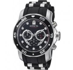 남성용 '프로 다이버'스위스 쿼츠 스테인레스 스틸 및 폴리 우레탄 다이빙 시계, 색상 : 블랙 (모델 번호 : 6977)