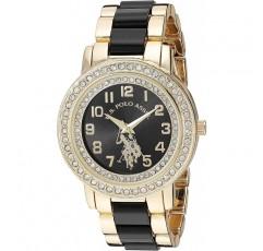 미국 폴로 협회 합금 스트랩, 골드, 19.7 여성용 아날로그 쿼츠 시계 (모델 : USC40229)
