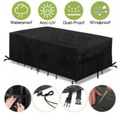 king do way 보호 커버 가구 커버 정원 방 테이블 커버 야외 방수 직물, 로프 및 잠금 루프 (600D, 180 x 120 x 74cm)