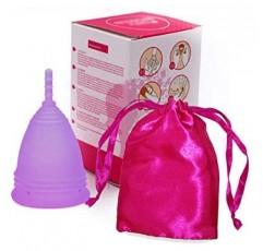 생리컵 크기1 - 작은, 보라색, 실리콘 무취 생리컵 지속 가능한 월간 위생, 탐폰과 붕대에 대한 대안