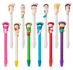 12 Pcs 의사와 간호사 볼펜 S. 참신 캐리커처 볼펜 재미있는 간호사 선물 펜 에 대한 아내 딸 입