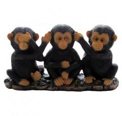 아프리카 정글 사파리 장식 조각품 또는 침팬지 동상 및 장식 동물 애호가 선물을위한 사악한 원숭이 입상 홈 앤 선물