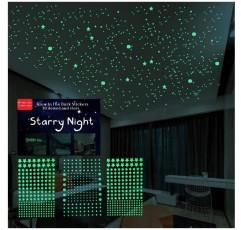 어두운 별 스티커 데칼 장식 천장 615 개 현실적인 3D 스티커 별이 빛나는 하늘 빛나는 장식 아이 침실 침구 선물 (별과 점)