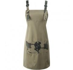 BFY 여성 남성 앞치마 어깨 스트랩 허리 넥타이 2 전면 포켓 아티스트 부엌 요리 홈 정원 (위장)