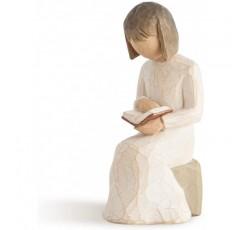 버드 나무 지혜, 조각 된 손으로 그린 그림, Sculpted Hand-Painted Figure