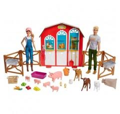 3 ~ 8 세의 바비 인형과 켄 인형이있는 바비 달콤한 과수원 농장 헛간 플레이 세트