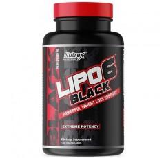 Nutrex Research Lipo-6 검정 극한 효능 | 강력한 체중 감량, 식욕 억제제, 에너지 및 포커스 다이어트 알약, 120 카운트