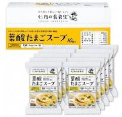 모리시타 진탄 엽산 계란 스프 1 상자 (10 食入) 8g × 10 식 영양 기능 식품