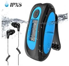 AGPTEK 방수 MP3 플레이어 내장 8GB 휴대 편리 국제 방수 등급 IPX8 녹음 / 음악 / FM 라디오 스포츠 이어폰 수영 달리기