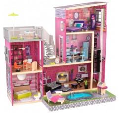 가구가있는 KidKraft Girl 's Uptown Dollhouse
