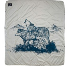 Therm-a-Rest Argo 2-Person Outdoor, 캠핑, 피크닉 및 해변 담요, Wolf Print