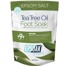 Epsoak Epsom Salt - 2 POUND (32 온스) VALUE BAG - 박테리아, 네일 곰팡이, 무좀 및 불쾌한 발 냄새와 함께 티 트리 오일 풋 소크. 거친 가래를 부드럽게하고 피로를 가라 앉히고, 애 태우 피트