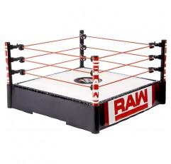 정통 로고, 유연한 로프 및 바운싱 액션을위한 스프링 장착 매트가있는 WWE Superstar 14 인치 링
