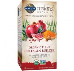 Garden of Life mykind 유기농 식물 콜라겐 빌더-모발, 피부 및 손톱 건강을위한 비건 콜라겐 빌더, 60 정의 포장 가능