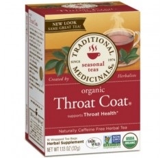 Traditional Medicinals Throat Coat, 계절 차, 유기농, 16 CT (Throat Coat, Pack-3)