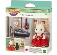 실바니아 가족 - 6009 - 초콜릿 토끼 바이올리니스트 소녀